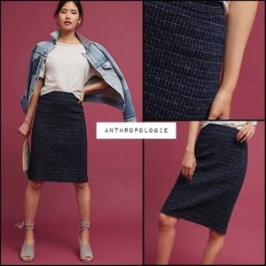 Anthropologie Maeve plaid pencil skirt large